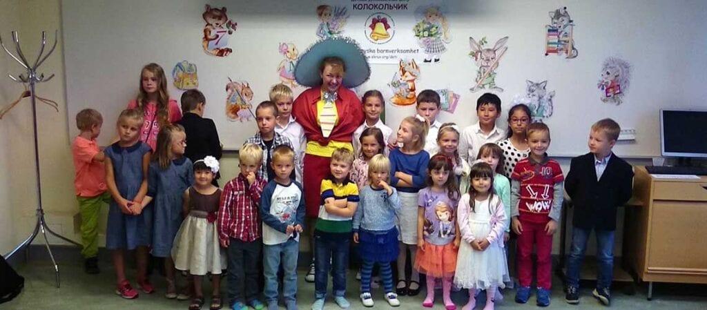 gruppfoto med barn